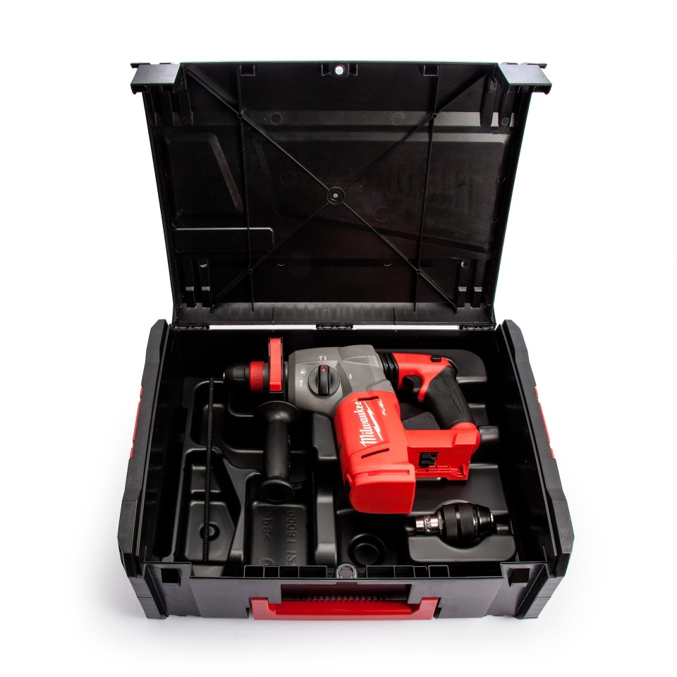Milwaukee M18 Fuel SDS Plus boorhamer SDS plus in koffer