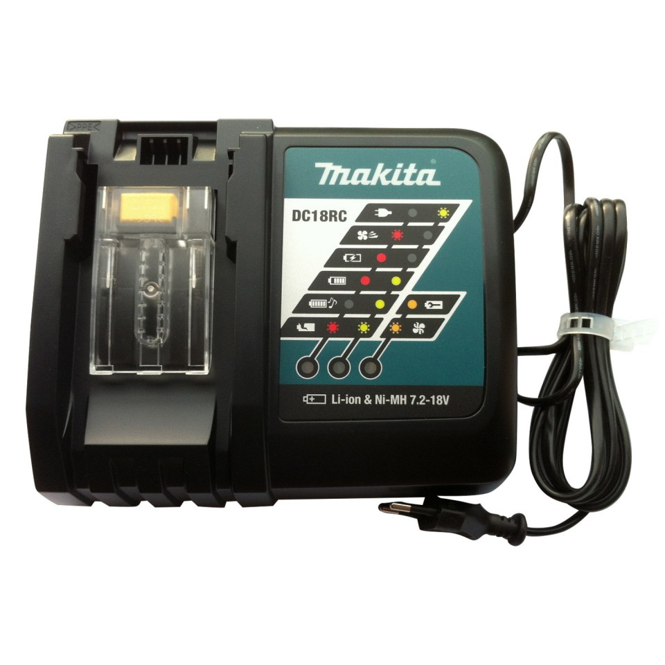 Makita oplader acculader DC18RC voor Li-ion accu's 7,2 t/m 18 V