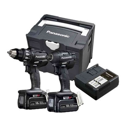 Panasonic EYC215LJ2G brushless comboset EY74A2 schroefmachine en EY75A7 slagschroefmachine in systainer 5Ah
