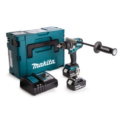 Makita DHP481RTJ schroefmachine met klopstand 18V 5,0Ah Li-ion in Mbox