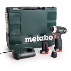 Metabo 10.8V PowerMaxx BS schroef-boormachine set (2 x 2.0Ah accu)