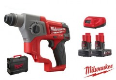 Milwaukee M12 CH-602X 12V Li-Ion accu SDS-plus boorhamer set FUEL 6.0Ah in HD-Box