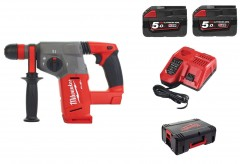 Milwaukee M18 CHX-502C M18 Fixtec SDS-Plus Accuboorhamer set 18V 5.0Ah